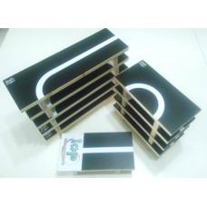 2017智慧機器人創意競賽 窄橋黑底白線軌道貼紙10張+軌道板(專利申請)